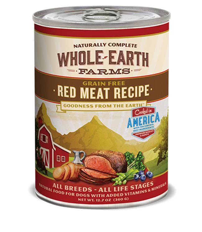 Whole Earth Farms Whole Earth Farms Red Meat Recipe Dog Food, 12.7 oz can