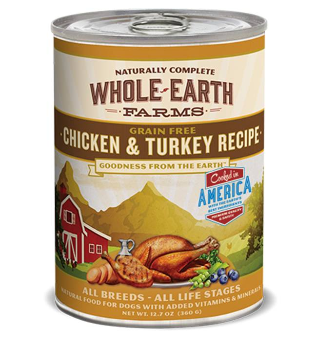 Whole Earth Farms Whole Earth Farms Chicken & Turkey Recipe Dog Food, 12.7 oz can