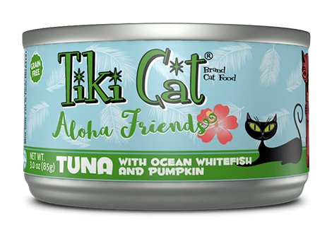 Tiki Tiki Cat Aloha Friends Tuna with Ocean Whitefish and Pumpkin