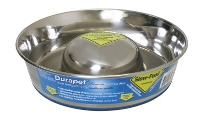 Durapet Durapet Stainless Steel Slow Feed Dish - Large