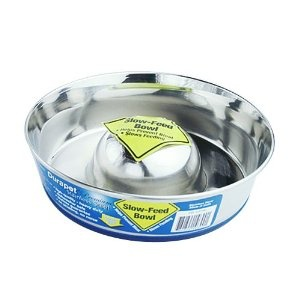 Durapet Durapet Stainless Steel Slow Feed Dish - Small