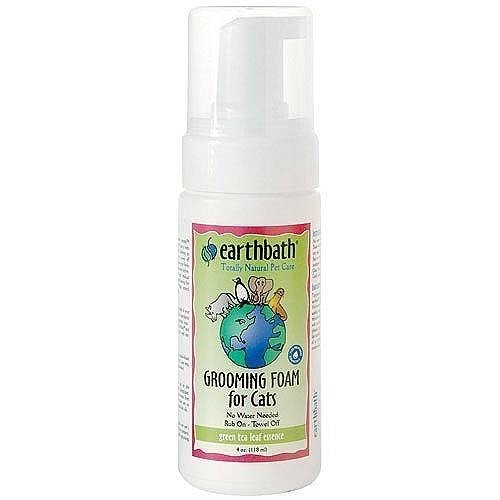 Earth Bath Earthbath Green Tea Grooming Foam for Cats, 4 oz bottle