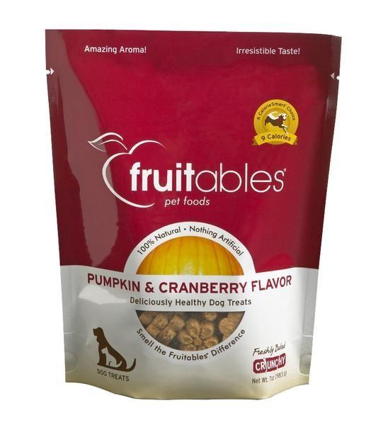 Fruitables Fruitables Pumpkin & Cranberry Flavor Crunchy Dog Treats, 7 oz bag