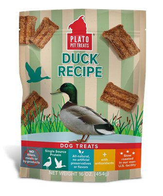 Plato Plato Natural Duck Treats, 16 oz bag