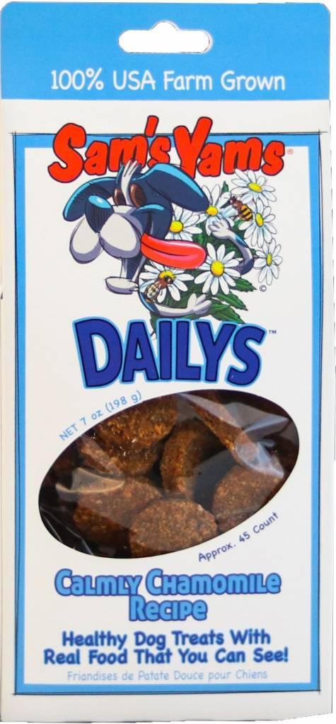 "Front Porch Pets Sam's Yams Daily's Calmly ""Chamomile"" Dog Treat, 7oz box"