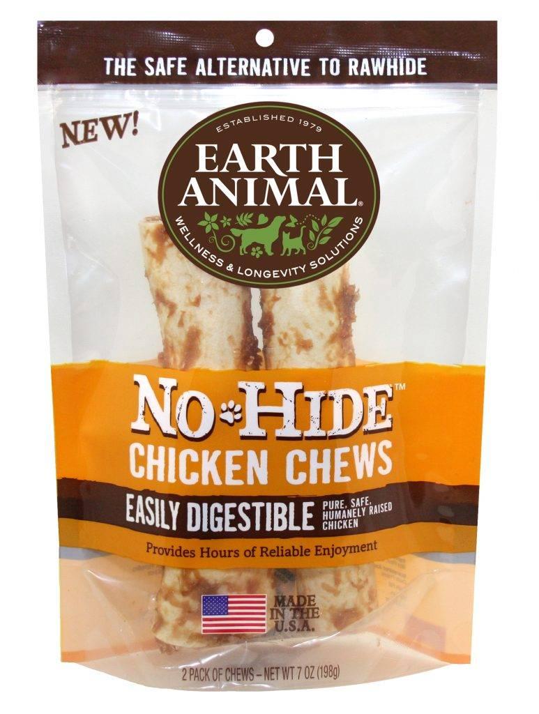 "Earth Animal Earth Animal No Hide Chicken Chew Dog Treat, 4"""