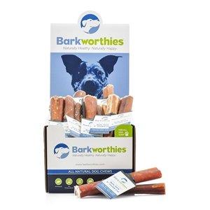 """Barkworthies Barkworthies Odor-Free Double Cut Bully Stick Dog Treat, 6"""""""
