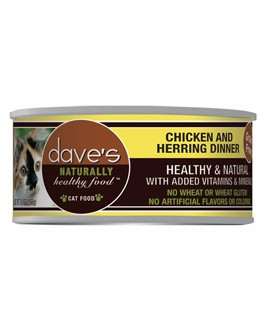 Dave's Dave's Chicken and Herring Dinner Cat Can Food, 5.5 oz can