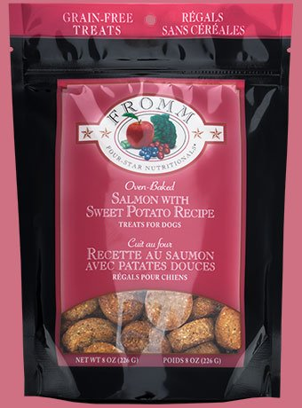 Fromm Fromm Four Star Grain Free Salmon with Sweet Potato Dog Treat, 8oz bag