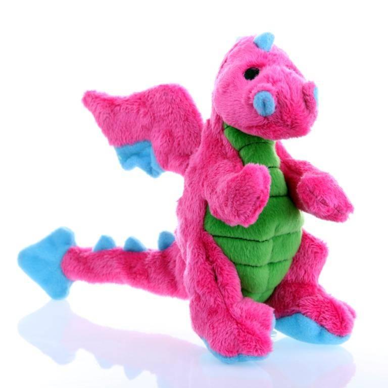 GoDog GoDog Baby Dragon Dog Toy with Chew Guard - Pink