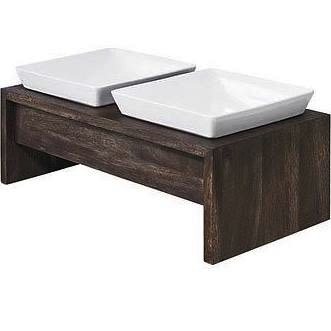 Bowsers Pet Bowsers Artisan Walnut Double Diner Feeder, XS