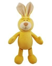 """Simply Fido Simply Fido Lucy 10"""" Yellow Bunny - Squeaker"""