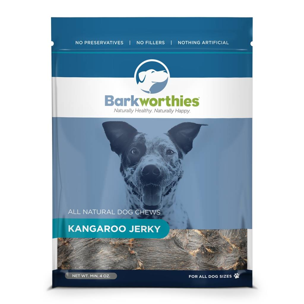 Barkworthies Barkworthies Kangaroo Jerky Dog Treat, 4oz bag