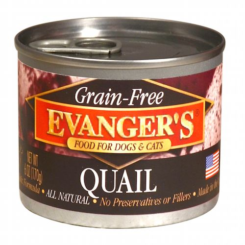 Evanger Evanger's Quail Food for Dog and Cat, 6 oz can