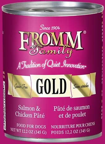 Fromm Fromm Gold Salmon & Chicken Pate Canned Dog Food - 12oz can