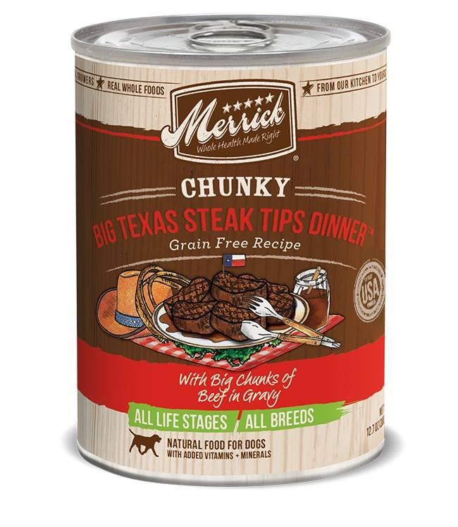 Merrick Merrick Big Texas Steak Tips Dinner Dog Food, 12.7 oz can