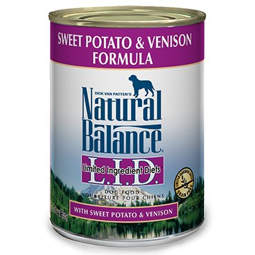 Natural Balance Natural Balance Venison & Sweet Potato Limited Ingredient Diet Dog Food, 13 oz can