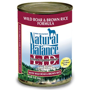 Natural Balance Natural Balance Boar & Brown Rice Dog Food, 13 oz can