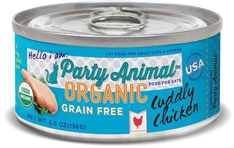 Party Animal Party Animal Organic Cuddly Chicken Grain Free Cat Can Food, 5.5 oz can