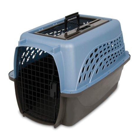 "Petmate Petmate Two Door Top Load Pet Kennel, 24"" Blue/Coffee"