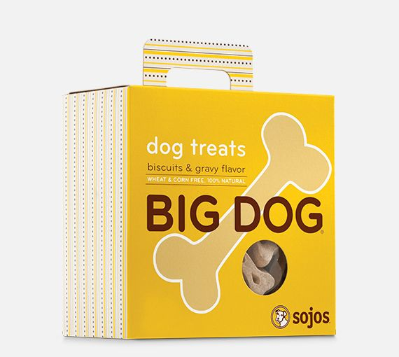 Sojos Sojos Big Dog Biscuits & Gravy Treat, 12 oz box
