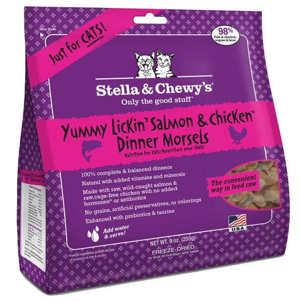Stella & Chewy Stella & Chewy's Salmon & Chicken Freeze-Dried Morsels Cat Food 9 oz bag
