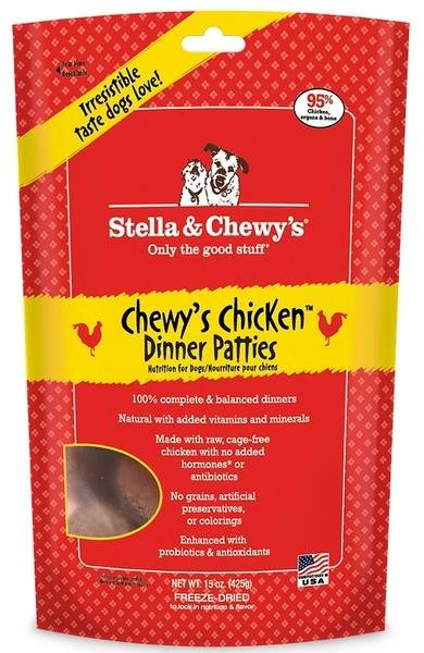 Stella & Chewy Stella & Chewy's Chewy's Chicken Dinner Patties Frozen Raw Dog Food 3# bag
