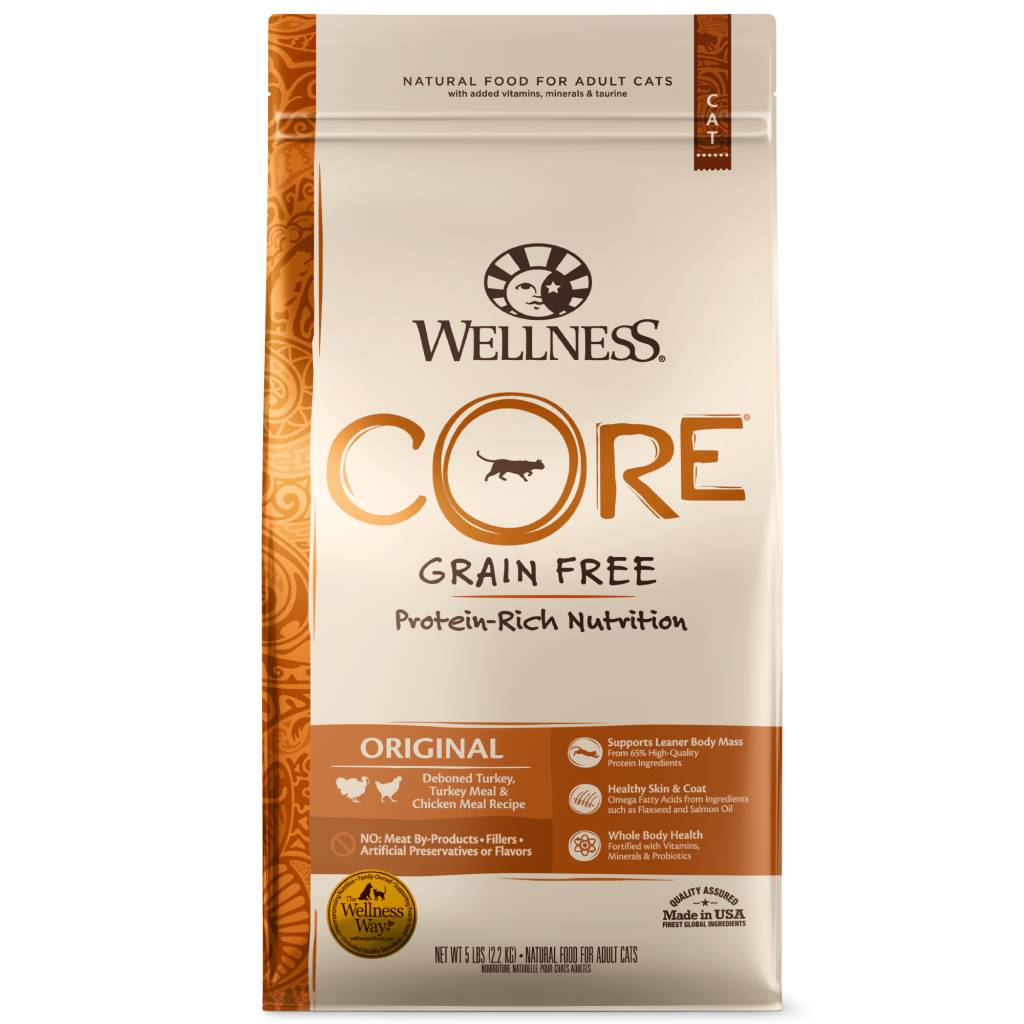 Wellness Wellness Core Original Formula Cat Dry Food, 5# bag
