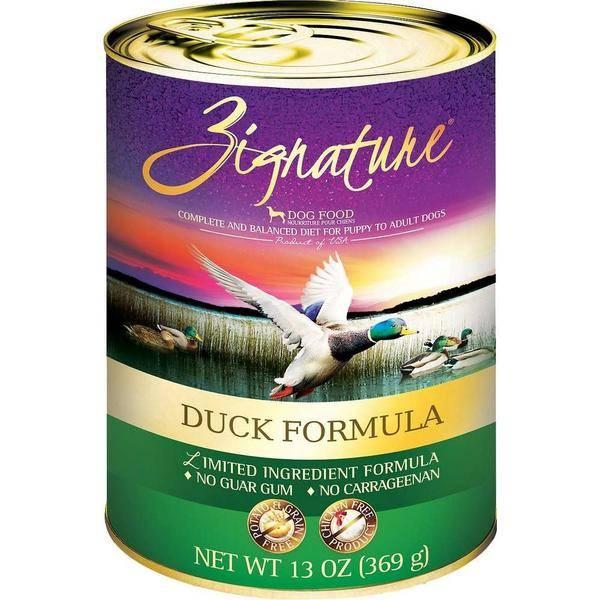 Zignature Zignature Duck Canned Dog Food, 13 oz can