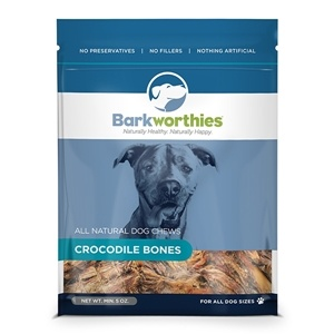 Barkworthies Barkworthies Crocodile Bones, 5 oz bag