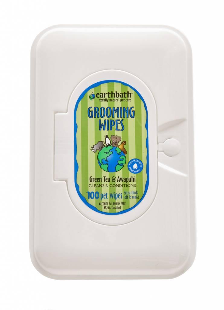 Earth Bath Earthbath Green Tea Grooming Wipes, 100ct