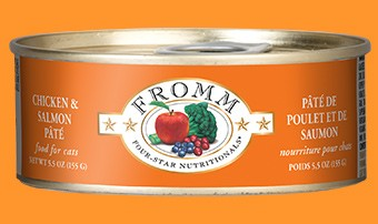 Fromm Fromm Four Star Grain Free Chicken and Salmon Pate Cat Can Food, 5.5 oz can