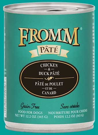 Fromm Fromm Gold Chicken & Duck Pate Canned Dog Food, 12 oz can