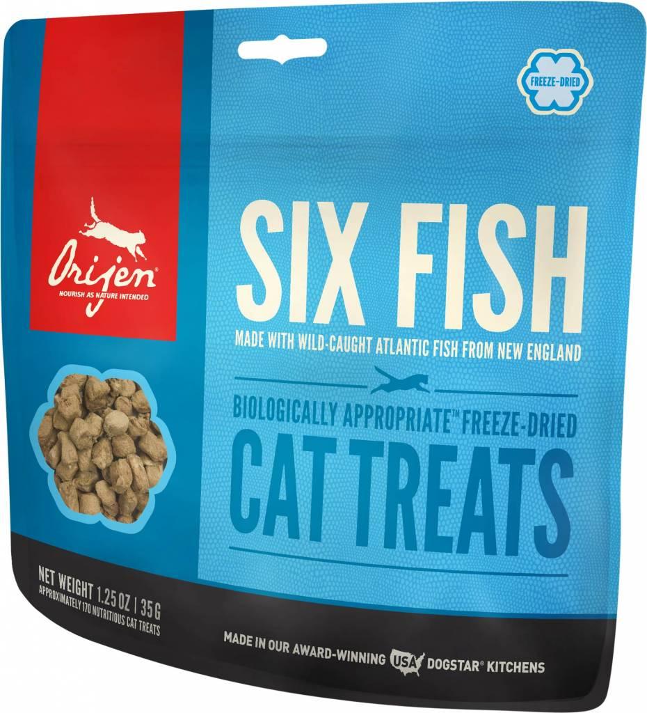 Orijen Orijen Six Fish Freeze-Dried Cat Treats, 1.25 oz bag