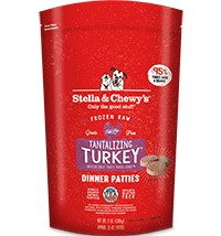 Stella & Chewy Stella & Chewy's Dinner Patties Frozen Raw Dog Food, Turkey, 3 lb bag