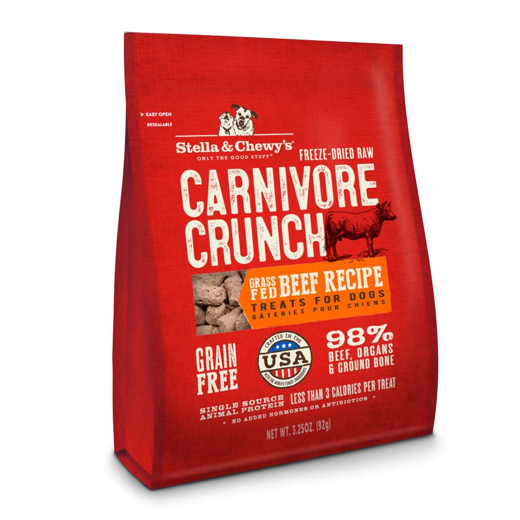 Stella & Chewy Stella & Chewy's Carvinore Crunch Beef 3.25 oz bag