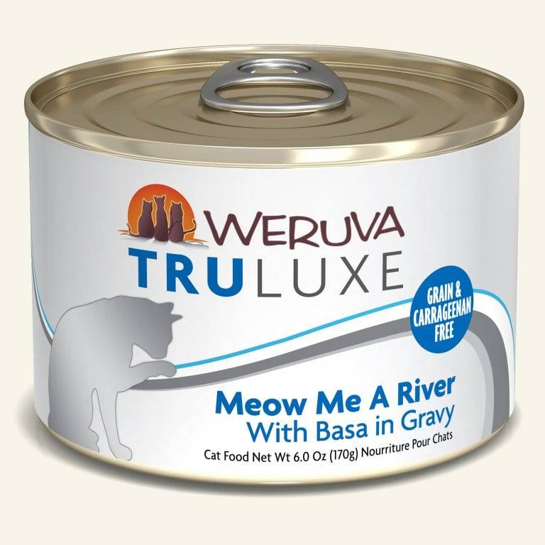Weruva Weruva Truluxe Meow Me a River with Basa in Gravy, 6 oz can
