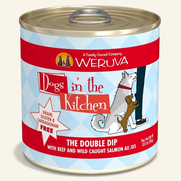 Weruva Weruva Dogs in the Kitchen The Double Dip, Beef & Salmon Canned Dog Food, 10 oz can