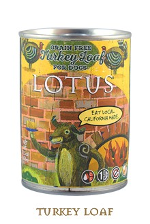 Lotus Lotus Turkey Loaf Grain-Free Canned Dog Food, 12.5 oz can