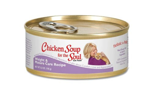 Chicken Soup Pet Chicken Soup for the Soul Weight and Mature Care Recipe Cat, 5.5 oz can