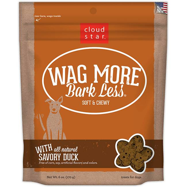 Cloud Star Cloud Star Wag More Soft & Chewy with Savory Duck Dog Treats, 6 oz bag