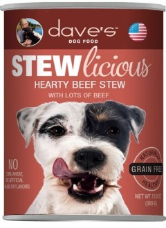 Dave's Dave's Pet Food Stewlicious Dog Canned Food
