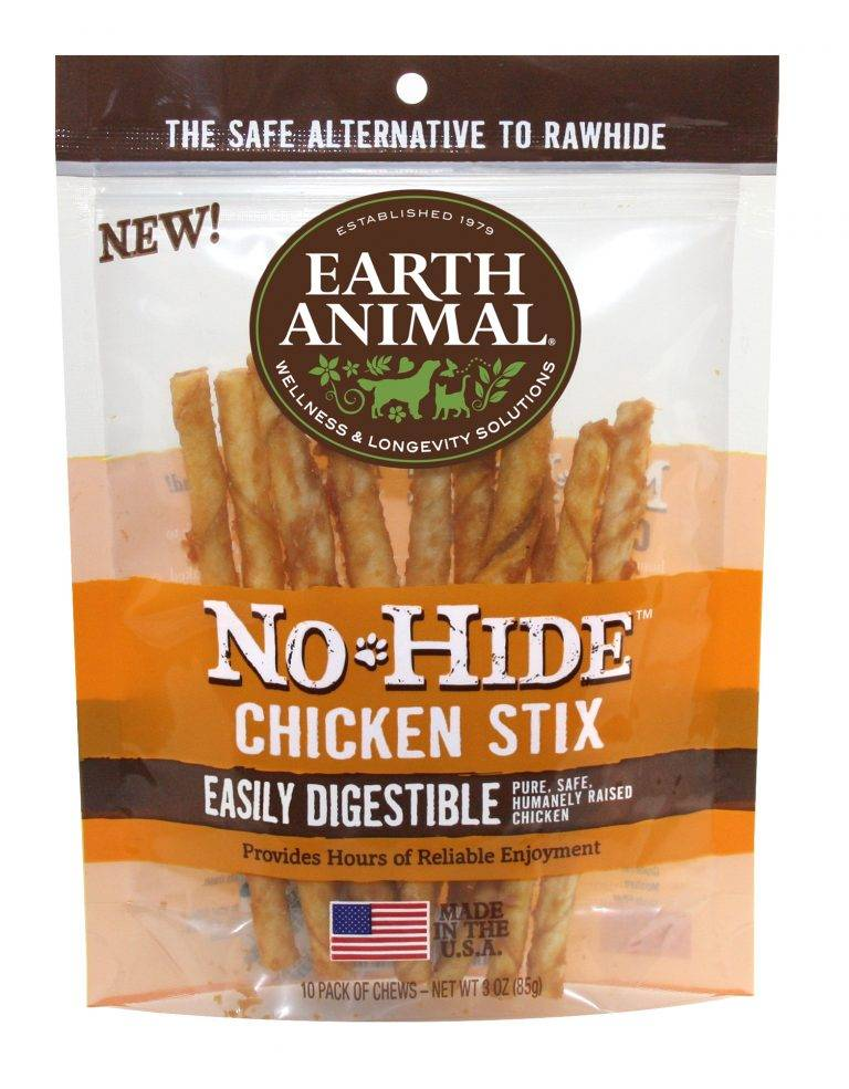Earth Animal Earth Animal No Hide Chicken Stix Chew Dog Treat, 3 oz bag