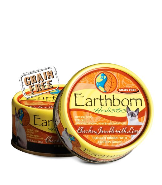 Earthborn Earthborn Chicken Jumble with Liver Cat Can Food, 5.5 oz can
