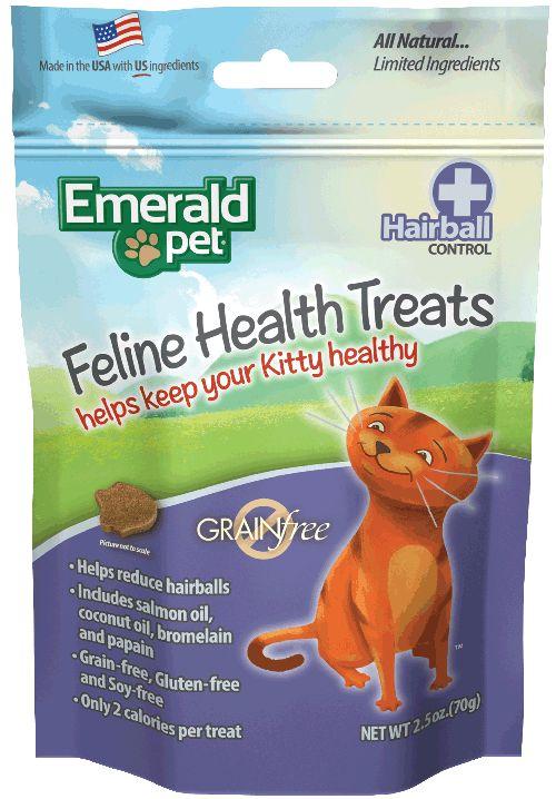 Emerald Pet Emerald Pet Smart N Tasty Health Treats, Hairball Formula, 2.5 oz bag