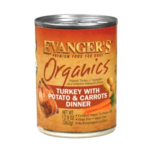 Evanger Evanger's Organics Turkey with Potato and Carrots Dinner, 13 oz can