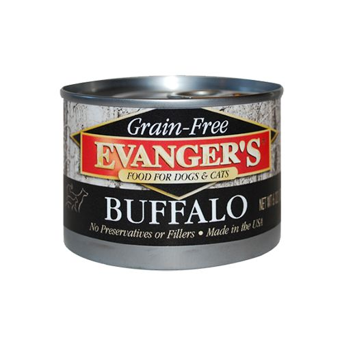 Evanger Evanger's Buffalo for Dog and Cat, 6 oz can