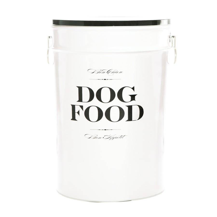 Harry Barker Harry Barker Bon Chien Dog Food Storage Container, White, Medium