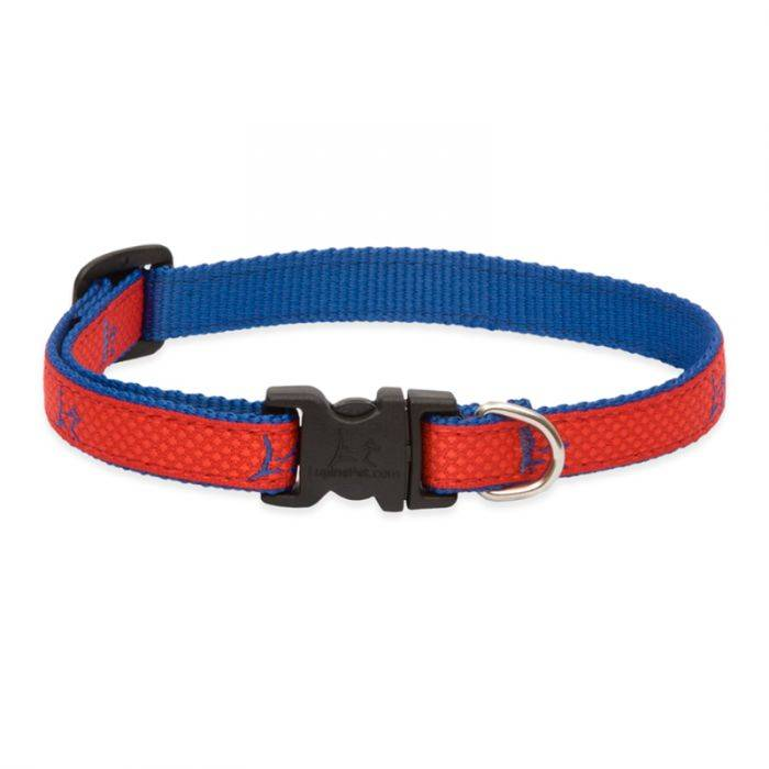 "Lupine Lupine Club - Derby Red 1"" Width Collar Large 16-28"""