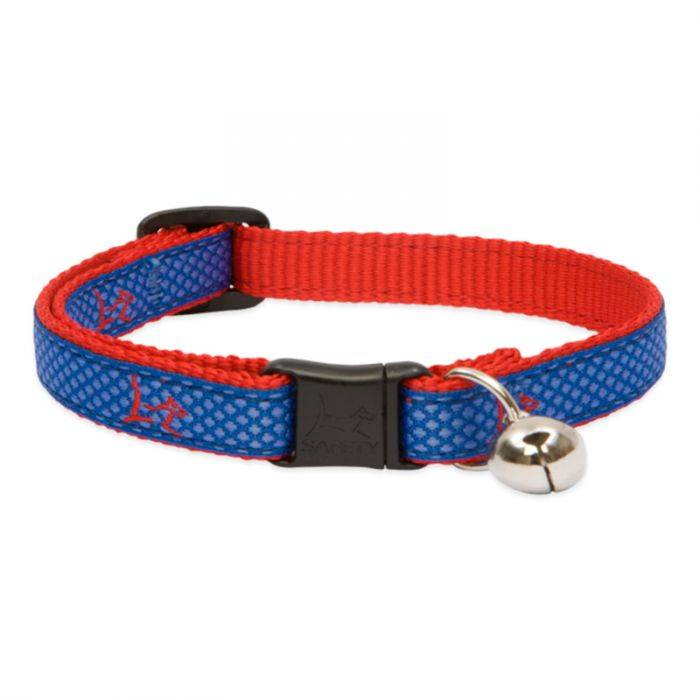 Lupine Lupine Club - Newport Blue - Cat Collar With Bell 8-12""
